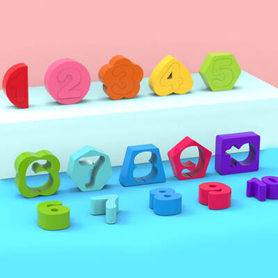 4 in 1 Wooden Rainbow Stacking Fishing Number Puzzle5